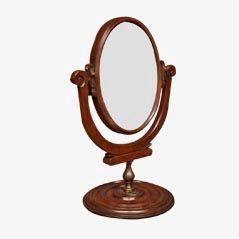 English Regency Mahogany Vanity Mirror, 1800s