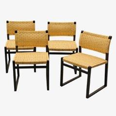 BM61 Stühle von Borge Mogensen für Fredericia Stolefabrik, 4er Set