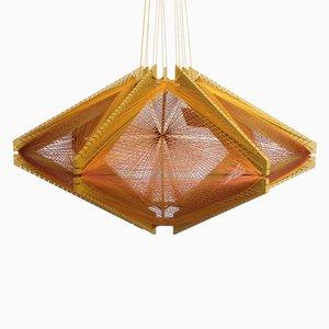Sputnik Lampshade #10 Mono Mustard by Julie Lansom