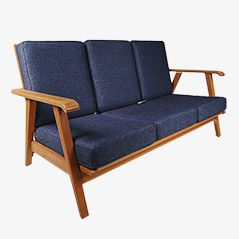 Vintage Birch 3-Seater Sofa, 1950s