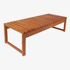 Vintage Pine Slate Bench, 1960s