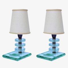 Italienische Tischlampen, 1930er, 2er Set