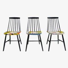 Handbemalte Pop Art Stühle von Pastoe, 3er Set