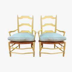 Antike Landhaus Lehnstühle aus Frankreich, 2er Set