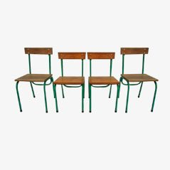 Children's Chairs by Willy van der Meeren for Tubax, 1950s, Set of 4