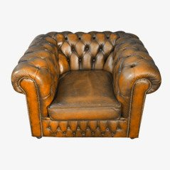 Vintage Chesterfield Leather Club Chair, 1970s