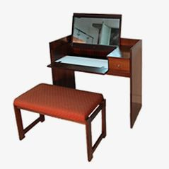 Vintage Dressing Table & Stool by Ico Parisi for MIM, 1950s