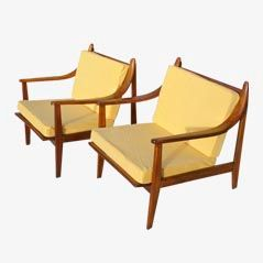 Danish Armchairs, 1950s, Set of 2