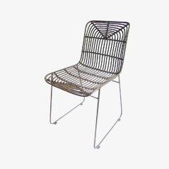 Bamboo & Steel Side Chair from Gunther Lambert, 1970s