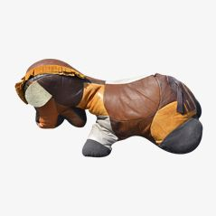 The Horse Zoomorphic Leather Beanbag