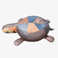 The Turtle Patchwork Leather Zoomorphic Beanbag