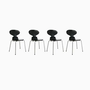 3101 Chairs by Arne Jacobsen for Fritz Hansen, 1988, Set of 4