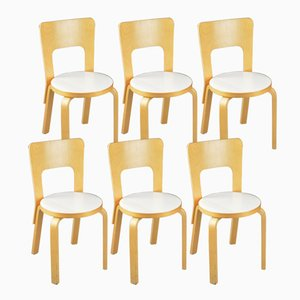Vintage Beech Chairs by Alvar Aalto for Artek, Set of 6