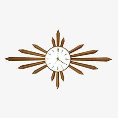 Sunburst Wall Clock from Metamec