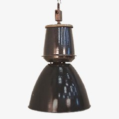 Large Industrial Pendant Lamp, 1950s