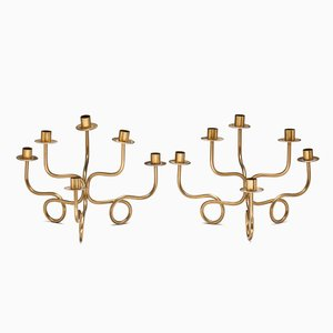 Pair of Six-Branched Candle Holders by Josef Frank