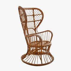 Wicker Chair by Gio Ponti, 1950s