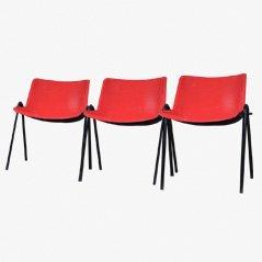 Esszimmerstühle von Osvaldo Borsani für Tecno, 1970, 3er Set