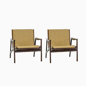 Rosewood Brazilian Easy Chairs from Liceu de Artes e Oficios, 1960s