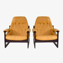 Lounge Chairs by Percival Lafer, 1960s, Set of 2