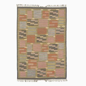 Midcentury Swedish Flat Weave Carpet by Marta Maas-Fjetterström