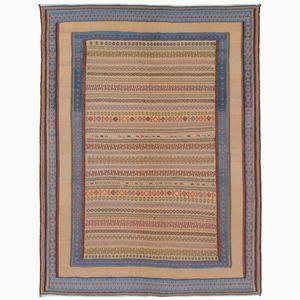 Earth-Tone Fine Soumak Carpet