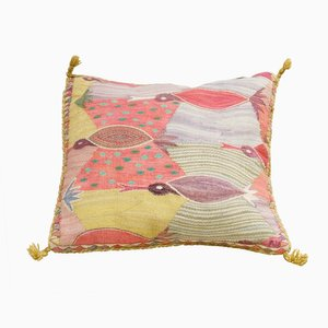 Swedish Cushion with Birds by Marianne Richter