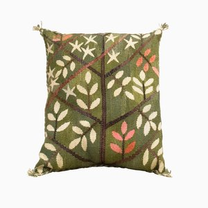 Swedish Cushion with Leaves by Barbro Nilsson