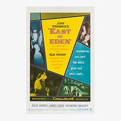 Poster vintage del film East to Eden, 1955