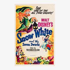 Vintage 'Snow White' Film Poster, 1951
