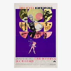Poster vintage del film Barbarella, 1968