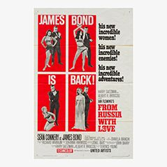 Vintage 'From Russia With Love' 'James Bond 007 Film Poster, 1963