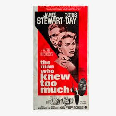 Vintage 'The Man Who Knew Too Much' 'Der Mann, der zuviel wusste' Filmposter, 1963