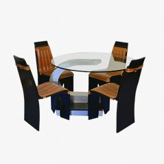 Vintage Dining Set by Willy Rizzo for Mario Sabot, 1970s