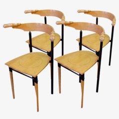 Jansky Chairs von Borek Sipek für Driade, 1980er, 4er Set