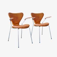 Serie 7 Armlehnstühle von Arne Jacobsen für Fritz Hansen, 1967, 2er Set