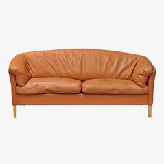 Leather Sofa from Mogens Hansen, 1980s