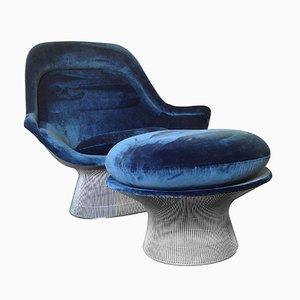 Vintage Easy Chair & Ottoman by Warren Platner for Knoll International