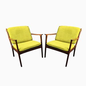 Danish PJ112 Rosewood Armchairs by Ole Wanscher for Poul Jeppersen, 1960s, Set of 2