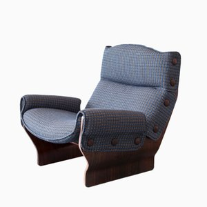 P110 Canada Chair in Blue by Osvaldo Borsani