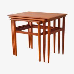 Tables Gigognes Vintage, Danemark, 1960s, Set de 3