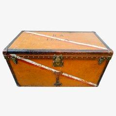 Oranger Vintage Vuittonite Canvas Überseekoffer von Louis Vuitton
