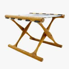 PH 43 Folding Stool by Poul Hundevad, 1950s