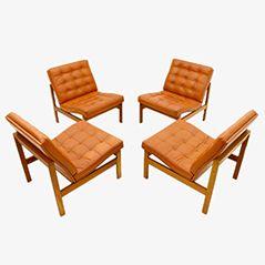 Vintage Lounge Stühle von Torben Lind & Ole Gjerløv-Knudsen für France & Søn, 1970er, 4er Set