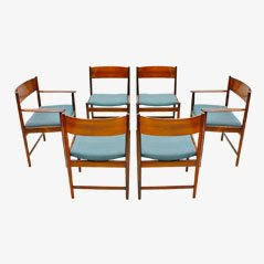 Rosewood Dining Chairs by Arne Vodder for Sibast Furniture, 1960s, Set of 6