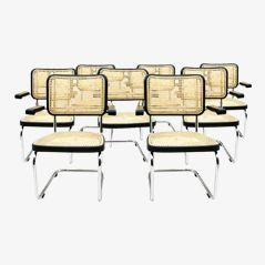 S 67 F Armlehnstühle von Mart Stam für Thonet, 8er Set