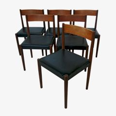 Teak Esszimmerstühle von Poul Volther, 1960er, 6er Set