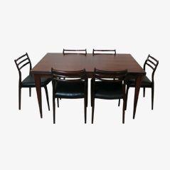 Rosewood Dining Set by Niels O. Moller for J. L. Møller Møbelfabrik, 1960s