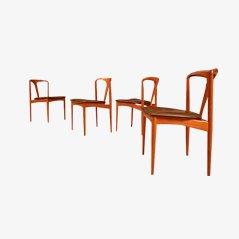 Juliane Dining Chairs by Johannes Andersen for Uldum Møbelfabrik, Set of 4