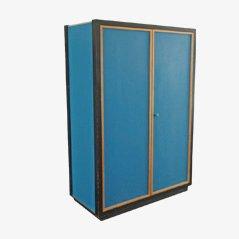 Blaue Vintage Pavatex Garderobe von Kurt Thut für Thut Mobel